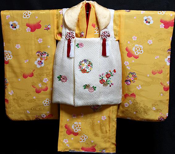七五三 着物 3歳 正絹 被布セット 新品73j451