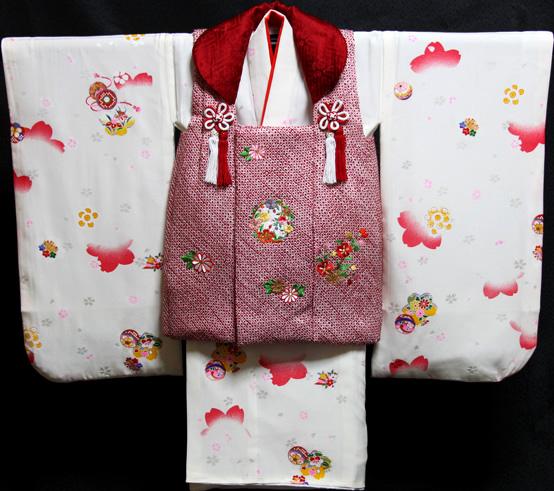七五三 着物 3歳 正絹 被布セット 新品73j452