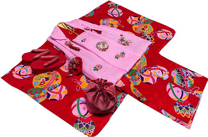 七五三 着物 3歳 女の子 正絹 モダン 被布セット 新品73j81c
