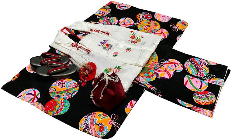 七五三 着物 3歳 女の子 正絹 モダン 被布セット 新品73j82a