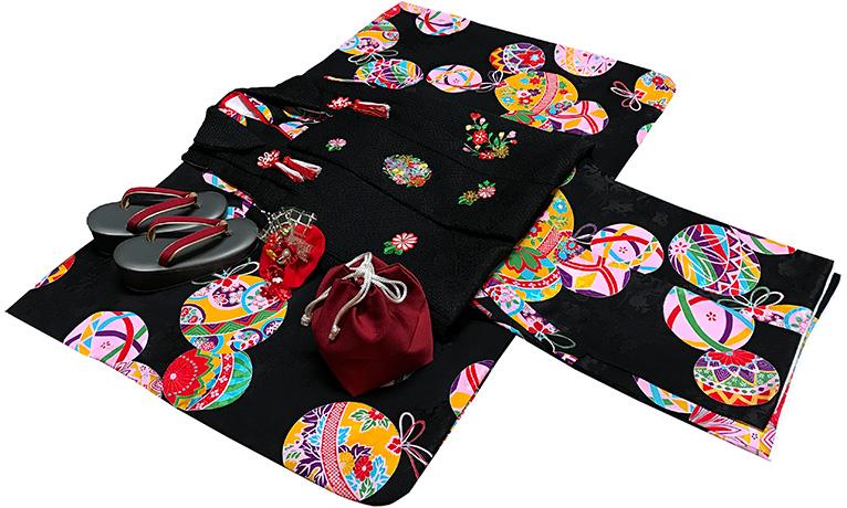 七五三 着物 3歳 女の子 正絹 モダン 被布セット 新品73j82c