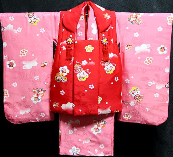 七五三着物 女児三歳用セット 正絹 新品73j232