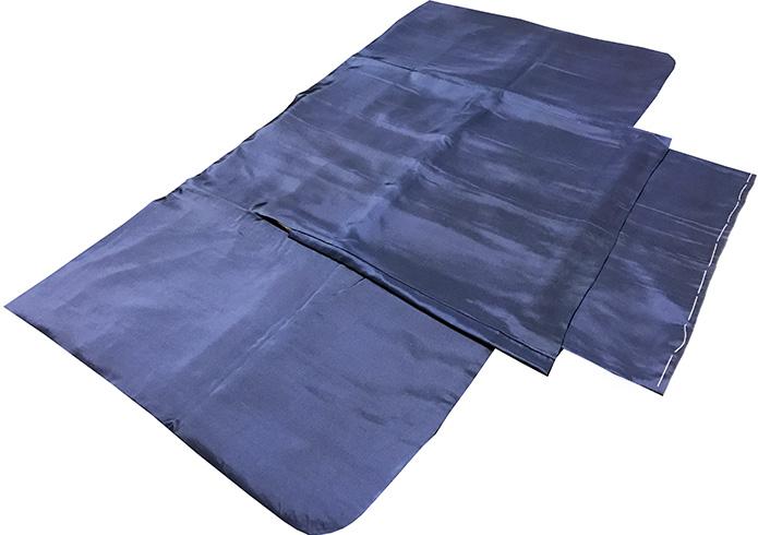 七五三 着物 正絹 男児五歳用セット 新品 紺紋付75d6711