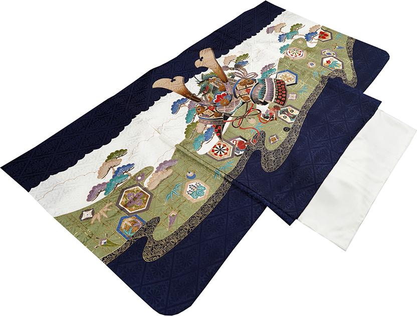 七五三 着物 男の子 5歳 フルセット 正絹 新品75d945