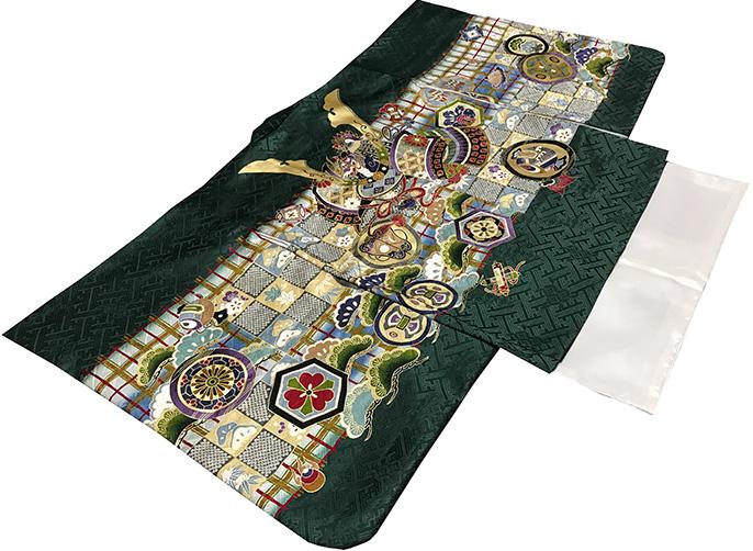 七五三 着物 男の子 5歳 フルセット 正絹 新品セット75d962