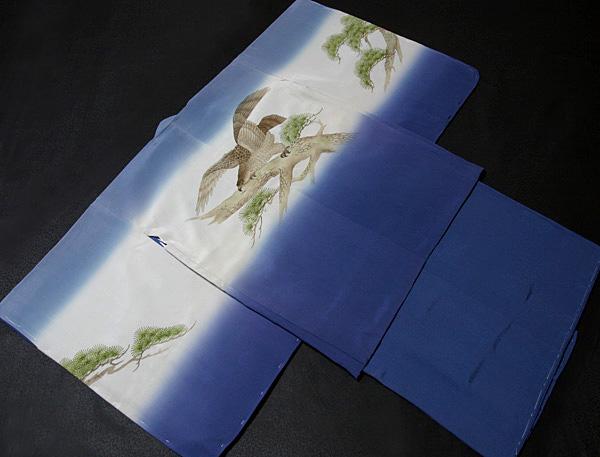 七五三着物 男児五歳用セット 手描き 正絹 新品75d9716