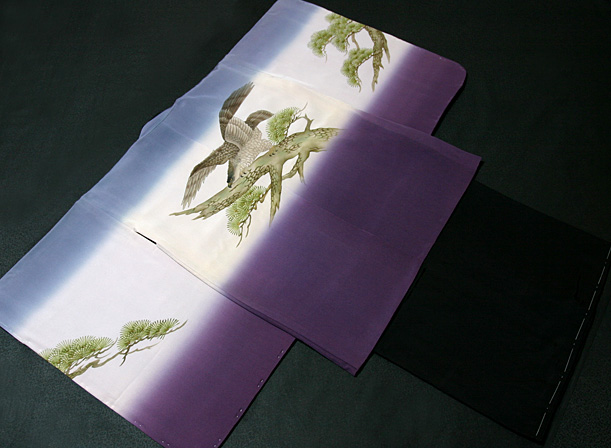 七五三着物 男児五歳用セット 手描き 正絹 新品75d9717