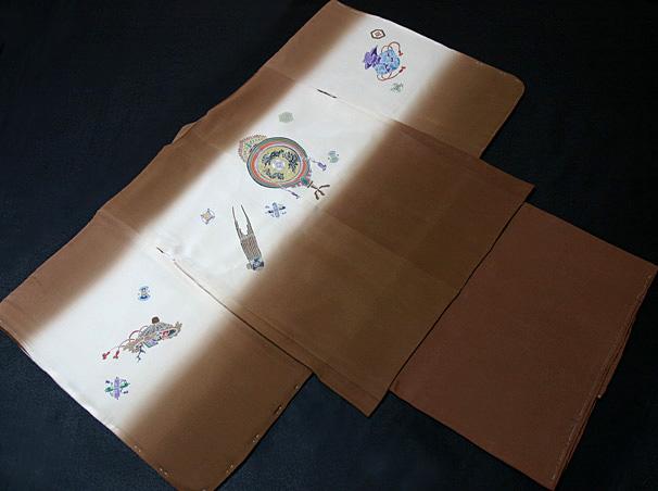 七五三着物 男児五歳用セット 手描き 正絹 新品75d9718