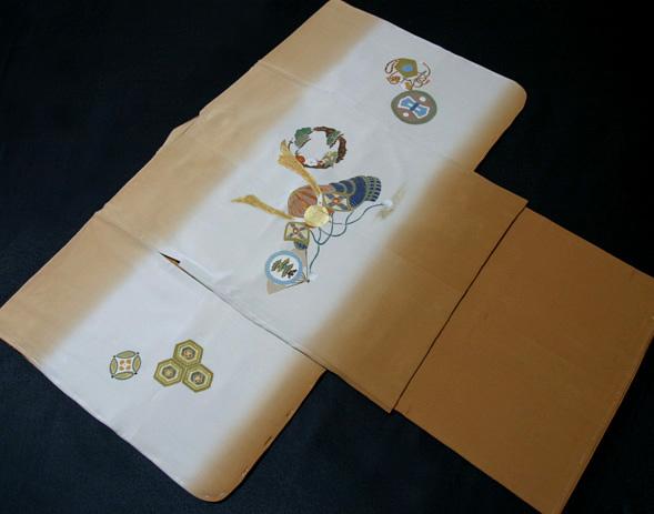 七五三着物 男児五歳用セット 手描き 正絹 新品75d9719
