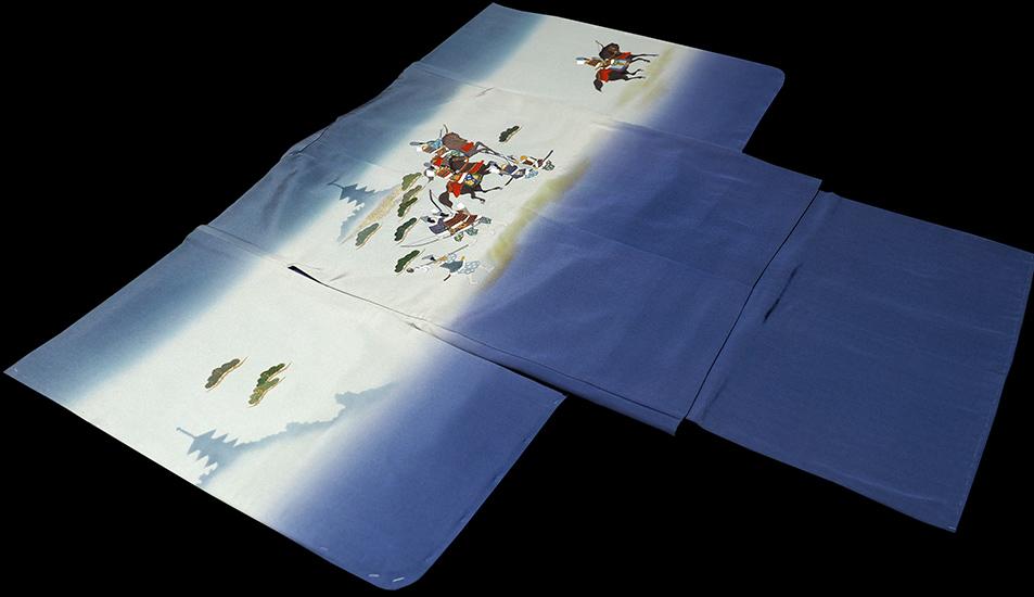 七五三着物 男児五歳用セット 手描き 正絹 新品75d9722