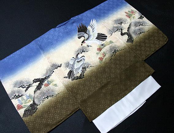 七五三着物 男児五歳用セット 正絹 新品75d593