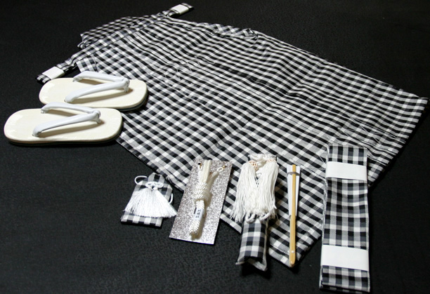七五三、五歳男児用 正絹袴セット、新品hkm1106