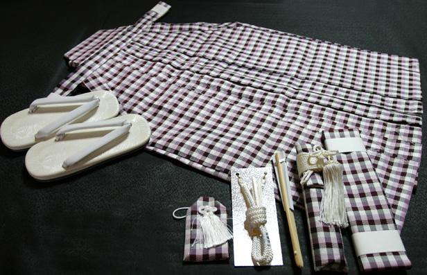 七五三、五歳男児用 正絹袴セット、新品hkm1110