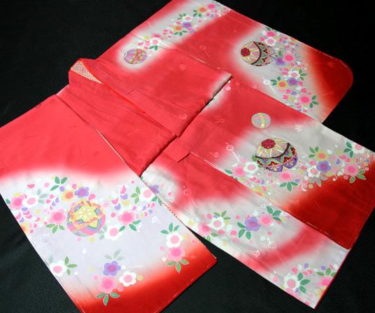 七五三着物 女児七歳用 正絹 新品77j202