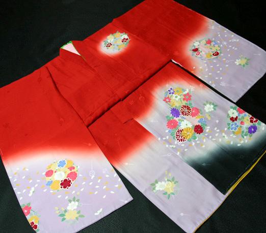 七五三着物 女児七歳用 正絹 新品77j203