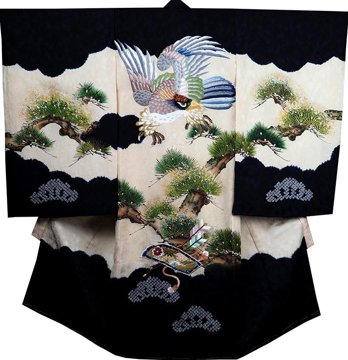 お宮参り 着物 男 男児祝着 正絹のしめ 初着 産着 新品d2108