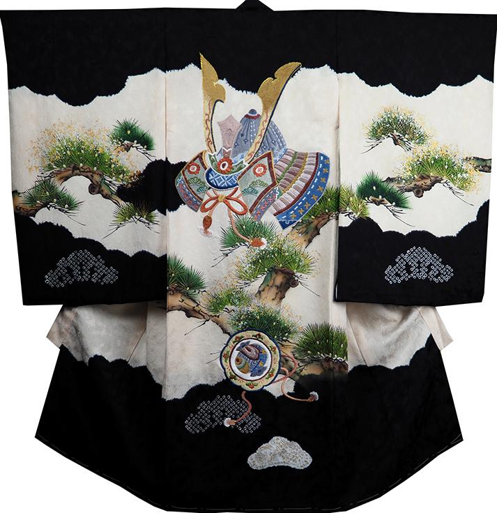 お宮参り 着物 男 男児祝着 正絹のしめ 初着 産着 新品d2110
