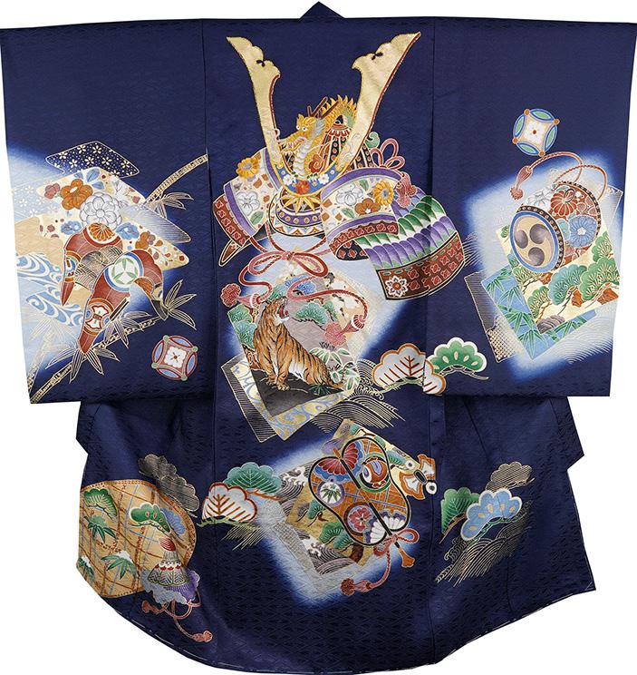 お宮参り 着物 男 男児祝着 正絹のしめ 初着 産着 新品d2139