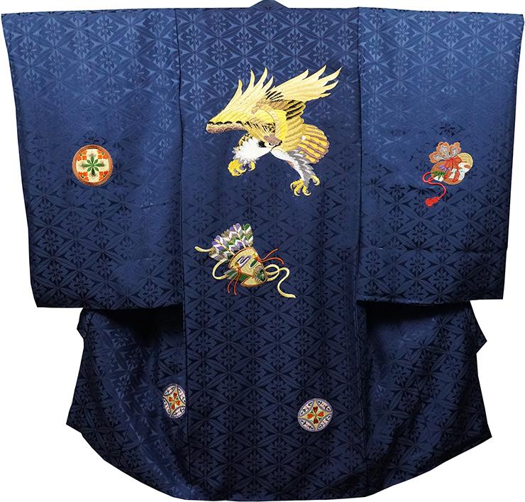 お宮参り 着物 男 男児祝着 正絹のしめ 初着 産着 新品d2143