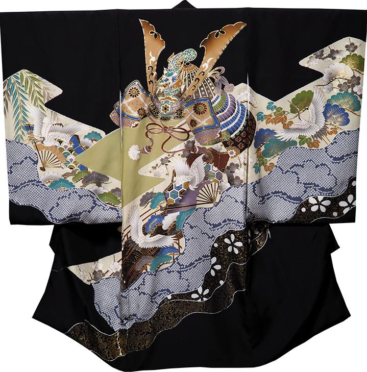 【送料無料】お宮参り 男の子 着物 男児祝着 正絹のしめ 初着 産着 新品d3701