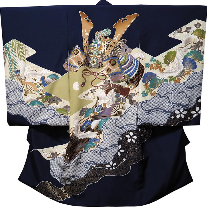 【送料無料】お宮参り 着物 男 男児祝着 正絹のしめ 初着 産着 新品d3702