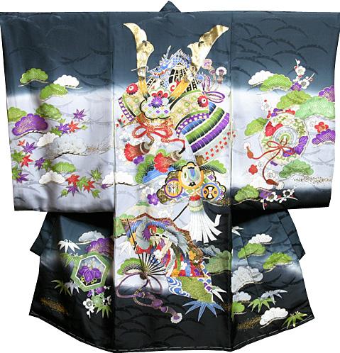 【送料無料】お宮参り 着物 男 男児祝着 正絹のしめ 初着 産着 新品d4010
