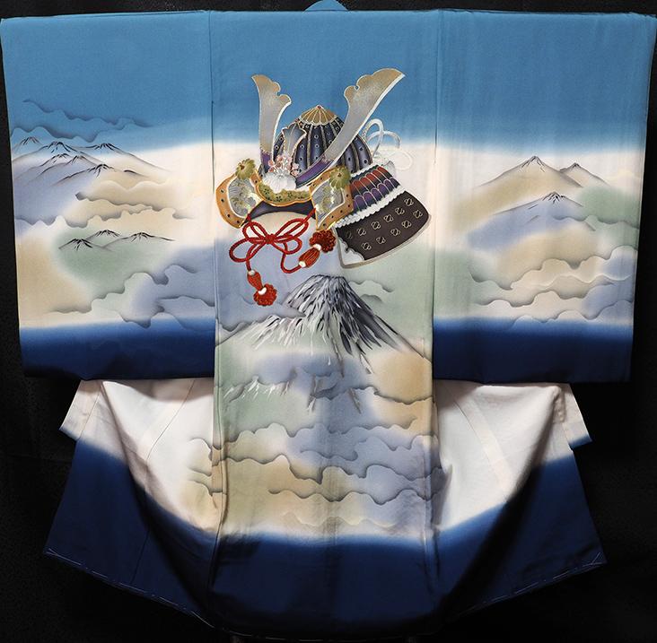 お宮参り着物 男児祝着 正絹のしめ 初着 産着 新品d7807