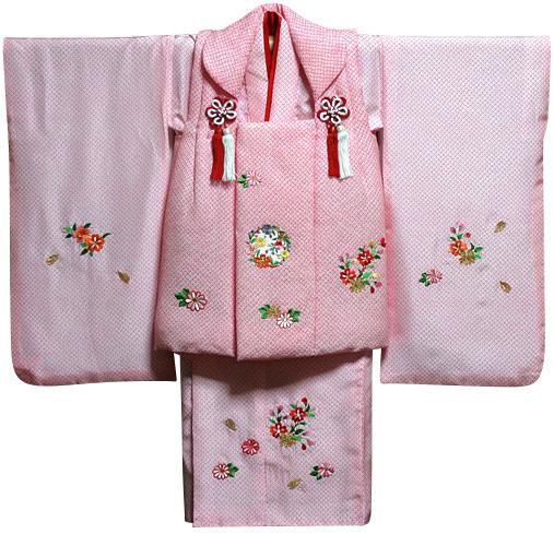 七五三 着物 3歳 女の子 着物 被布セット 新品73j285