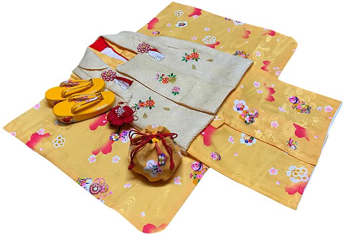 七五三着物 女児三歳用セット 正絹 新品73jn302