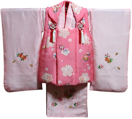 七五三 着物 3歳 女の子 着物 被布セット 新品73j304