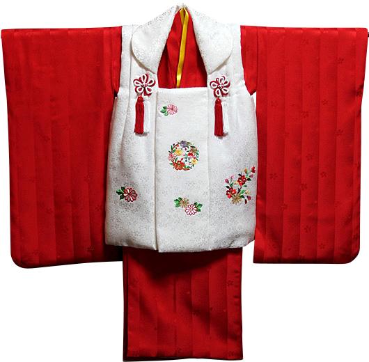 七五三 着物 3歳 女の子 正絹 被布セット 新品73j307