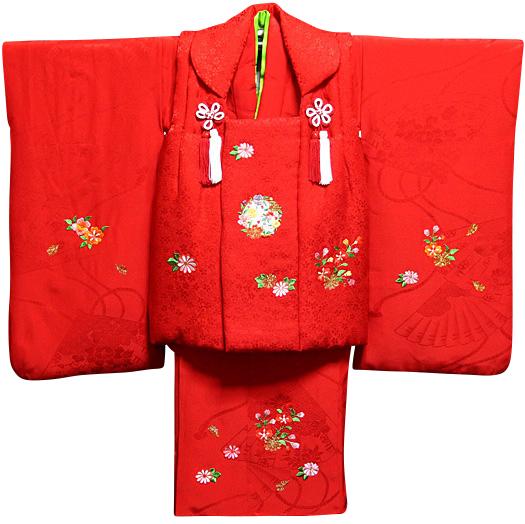 七五三 着物 3歳 正絹 被布セット 新品73j308