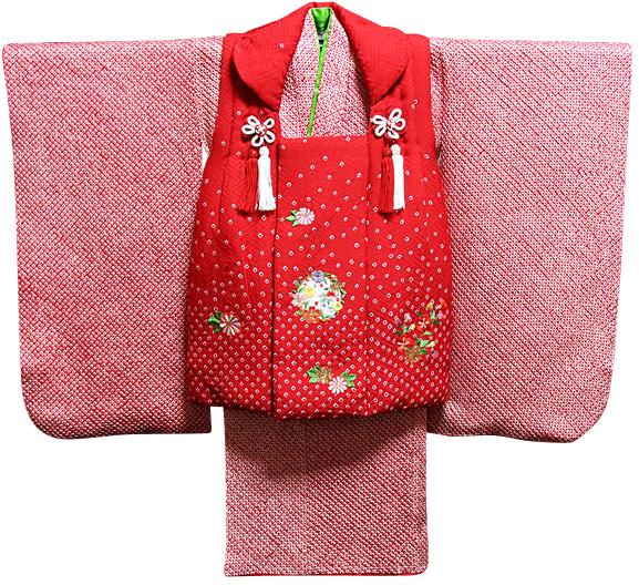 七五三着物 女児三歳用セット 正絹 新品73j437