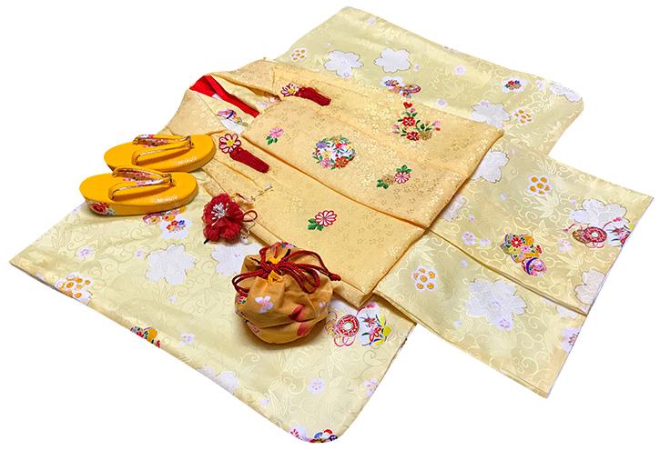 七五三 着物 3歳 女の子 正絹 被布セット 新品73j458