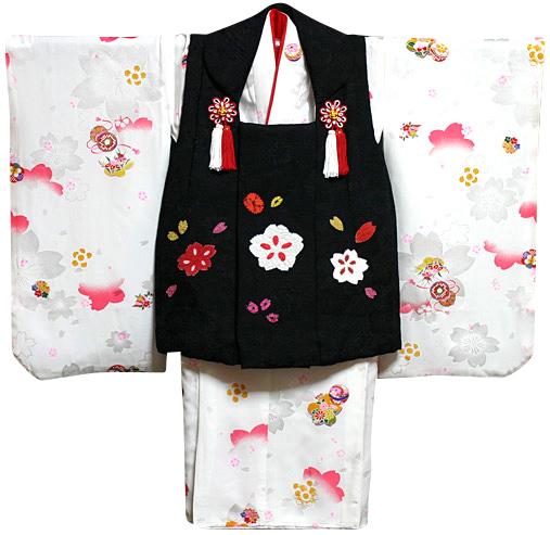 七五三着物 女児三歳用セット 正絹 新品73j552