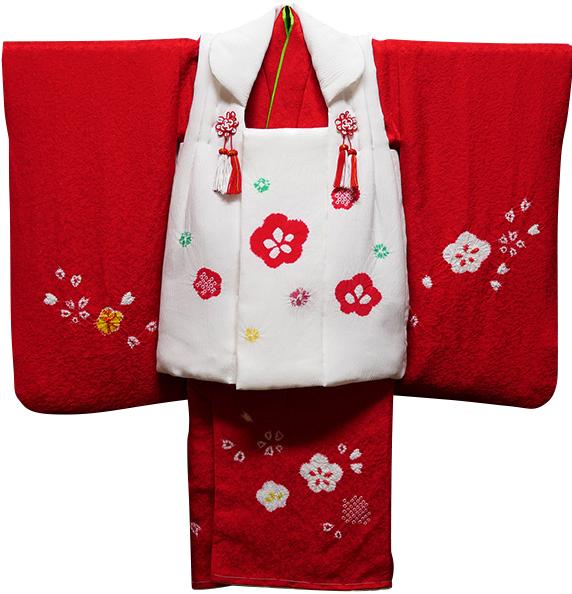 七五三 着物 3歳 女の子 正絹 被布セット 新品73jj3861