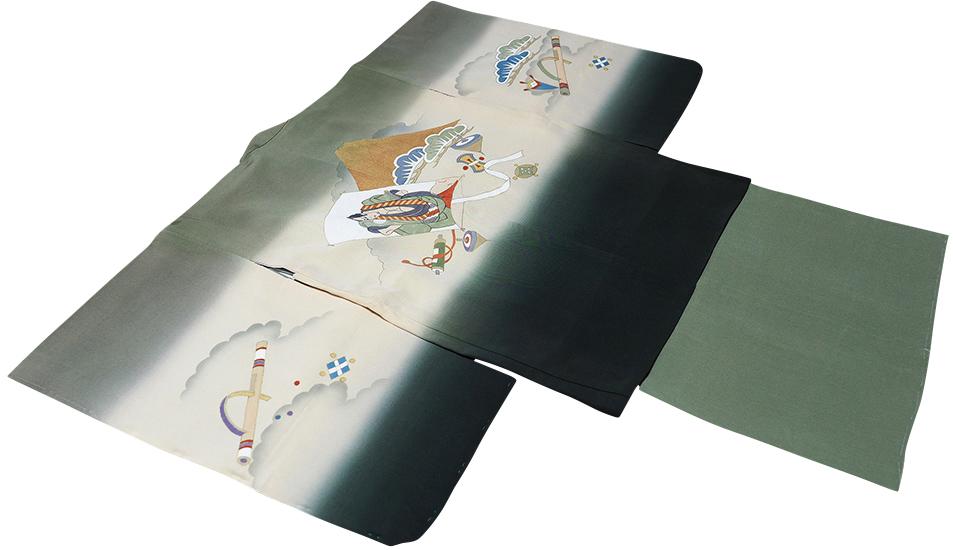 七五三着物 男児五歳用セット 手描き 正絹 新品75d9724