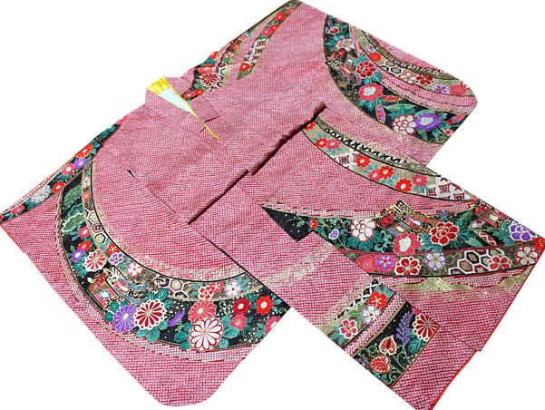七五三着物 女児七歳用 正絹 新品77t919