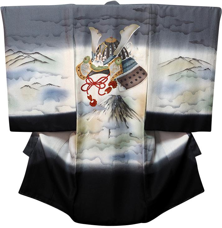 お宮参り着物 男児祝着 正絹のしめ 初着 産着 新品d7801