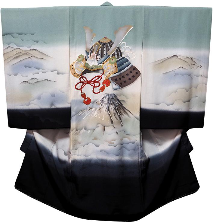 お宮参り着物 男児祝着 正絹のしめ 初着 産着 新品d7806