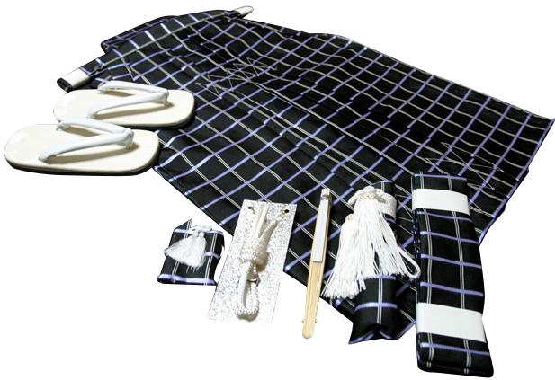 七五三、五歳男児用 正絹袴セット、新品hkm1104