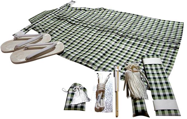七五三、五歳男児用 正絹袴セット、新品hkm1111