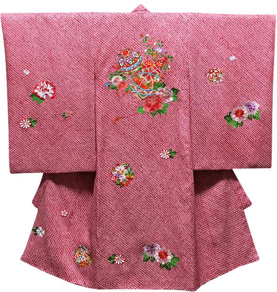 お宮参り着物 女児祝着 正絹 のしめ 初着 産着 新品j907