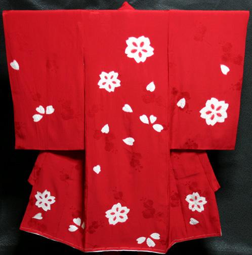 お宮参り 着物 女 女児祝着 正絹 のしめ 初着 産着 新品5103