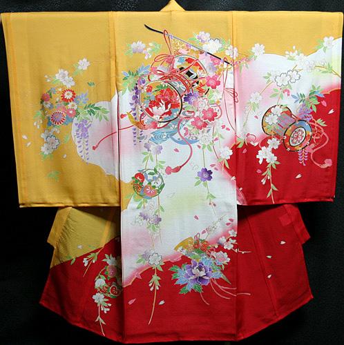 お宮参り 着物 女 女児祝着 絽(夏専用)正絹 のしめ 初着 産着 新品j722