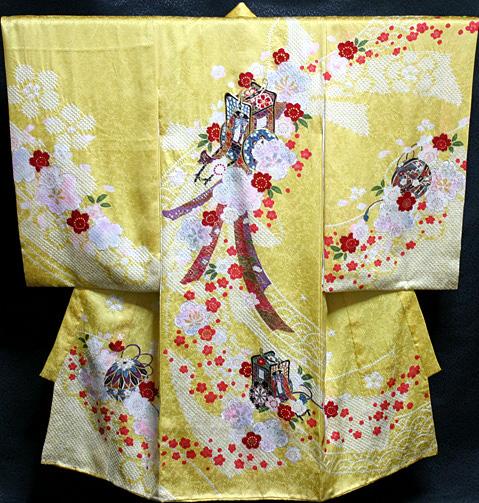 お宮参り着物 女児祝着 正絹 のしめ 初着 産着 新品j9602
