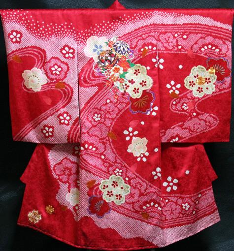 お宮参り着物 女児祝着 正絹 のしめ 初着 産着 新品j9605