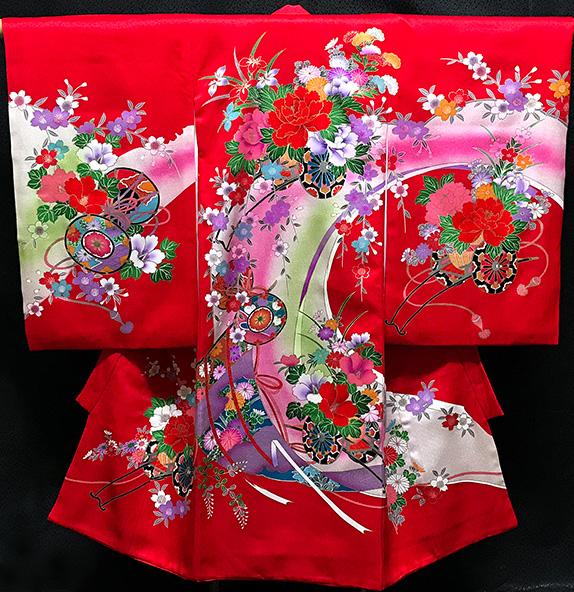 お宮参り 着物 女 女児祝着 正絹 のしめ 初着 産着 新品j2021