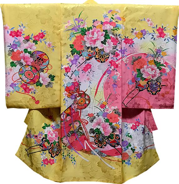 お宮参り 女の子 着物 女児祝着 正絹 のしめ 初着 産着 新品j2023