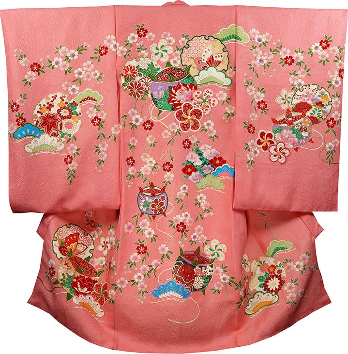 お宮参り 女の子 着物 祝着 正絹 のしめ 初着 産着 新品j2025